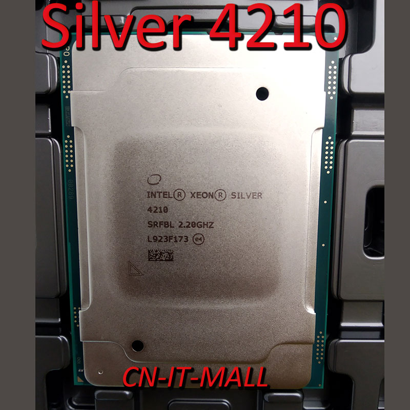 Pulled Xeon Silver 4210 CPU 2.2GHz 13.75M 10 Core 20 Threads LGA3647 Processor