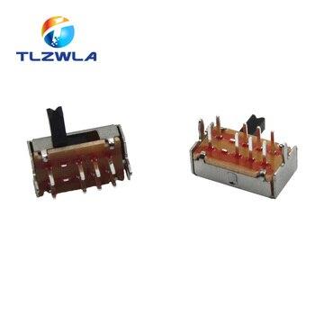 10Pcs SK23D07 8 Pin PCB 3 Position 2P3T DP3T Miniature Slide Switch Side Knob SK23D07VG4 Handle high 4mm