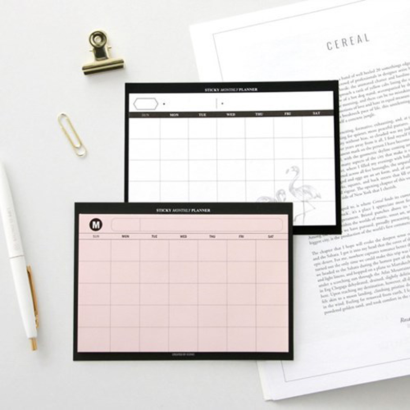 New Cute Portable School Student Self-adhesive Desk Weekly Planner Note Pad Stationery Supplies,fine Time Organizer Memo Pad
