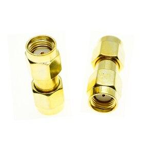 Rp sma macho jack para rp sma macho plugue cabo conector da antena soquete sma para sma ouro chapeado bronze reto rf adaptadores coaxiais