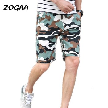 ZOGAA 2020 New Men Camouflage Shorts Casual Male Hot Sale Military Cargo Knee Length Mens Summer Short Pants Homme