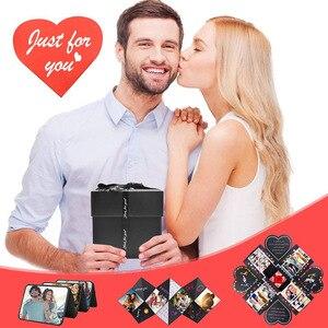 DIY Explosion коробка подарок Сюрприз любовь бумажная коробка посылка ручная работа память скрапбук Фотоальбом Свадьба годовщина день рождения подарки