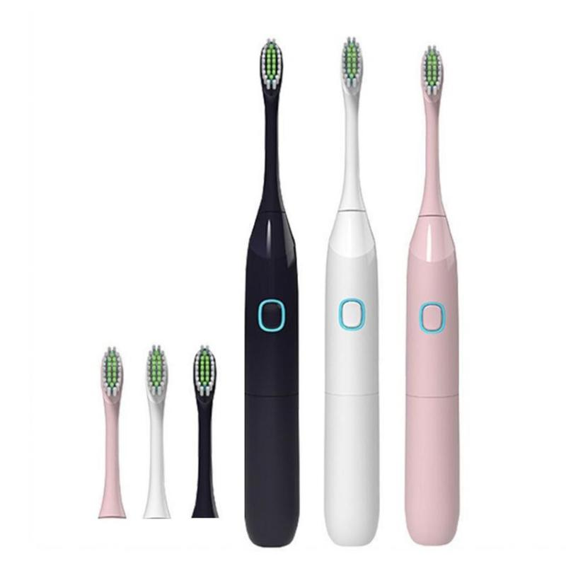 Adult Children Travel Sonic Electric Toothbrush with 2 Replacement Brush Head Battery Electric Toothbrush Oral Care image