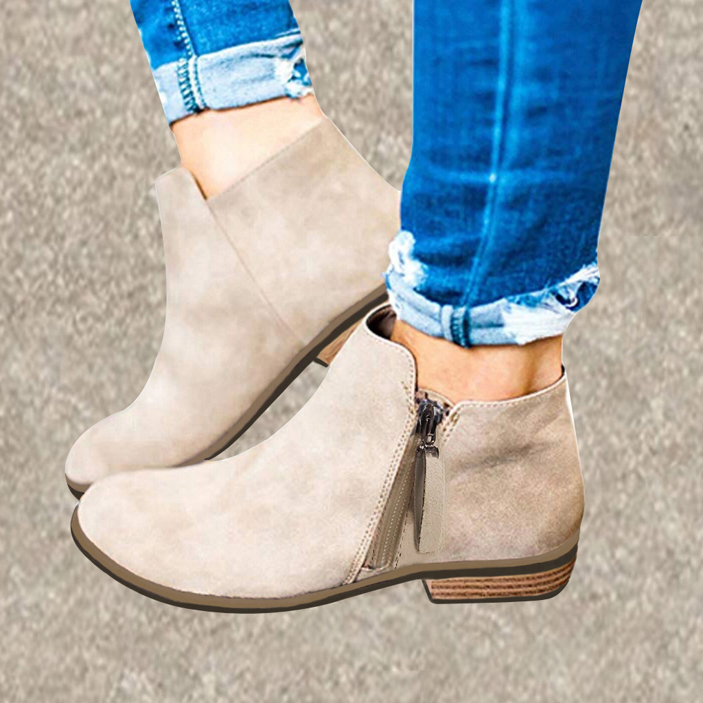 Women Ethnic Foral Embroidery Boots,Tsmile Stylish Retro Lace Up Block Stacked Mid High Heels Pointed Toe Bootie