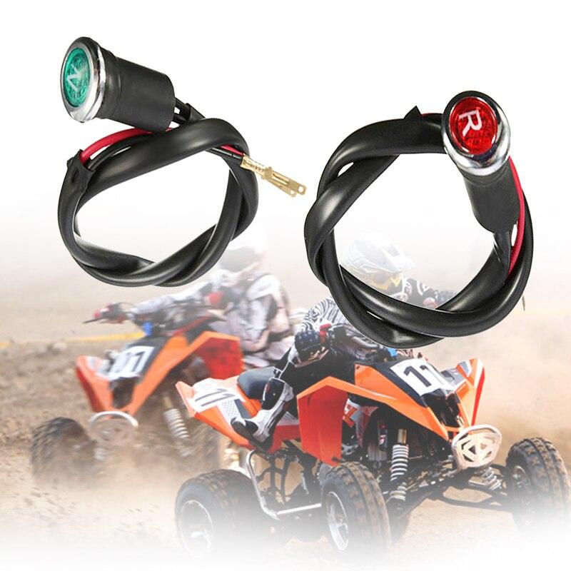 2 Pcs ATV Neutral & Reverse Light Gear Indicator For 90cc 110cc 125cc 150cc 200cc 250cc 300cc ATV Quad DC 12V 2 Colors