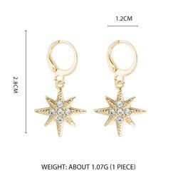 Дикие и свободные серьги-кольца в форме звезды для женщин, золотые медали, крест, маленькие глаза, крошечные обручи Huggie, серьги, стразы, минималистичное ювелирное изделие - Окраска металла: Style 5
