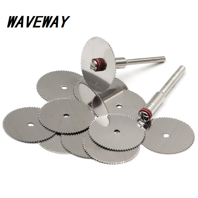 22mm 25mm 32mm Cutting Discs Rotary Tools Cutting Wheel For Dremel Tools Accessories 10pcs Dremel Discs With 2pcs Mandrels