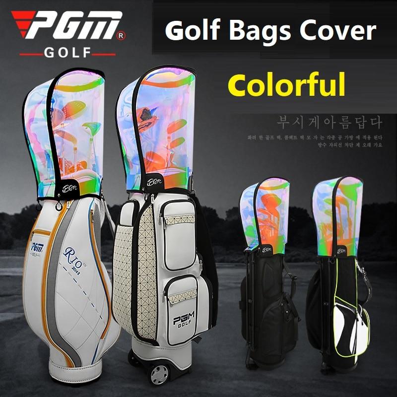 PGM Outdoor Golf Bag Cover PVC Waterproof Dustproof Rainproof Club Golf Rain Cover Transparent Colorful Protector Supplies