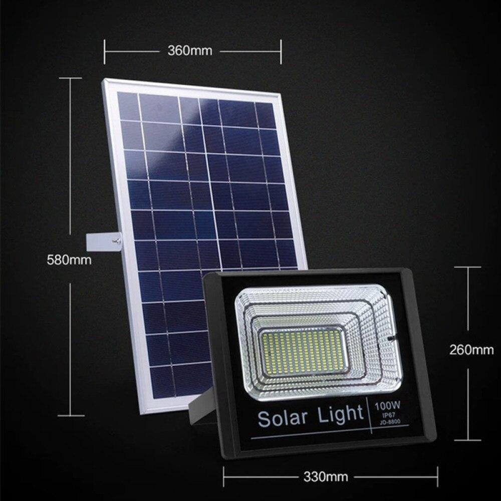 projector led painel solar fonte de alimentacao luz inundacao 05