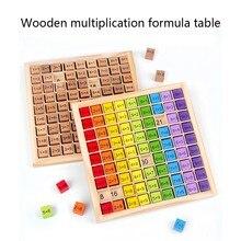 Montessori drewniane zabawki edukacyjne dla dzieci 99 tabliczka mnożenia matematyka arytmetyczna