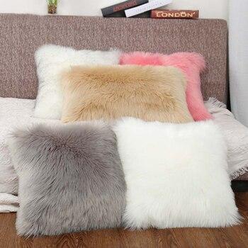 Soft luxury white faux fur throw p