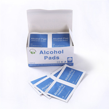 100PCS/Pack Disposable Alcohol Wet Wipe Disinfection Antiseptic Skin Cleaning Care Jewelry Mobile Phone Glasses Clean Wipe