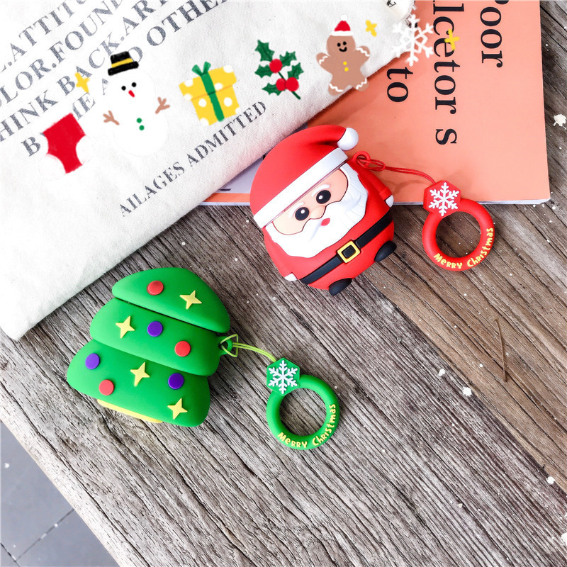 Image 4 - For airpods case Fundas For Airpods 2 case cover cute 3D Wireless Bluetooth Headphones Protective Cover Silicone Earphone Case-in Earphone Accessories from Consumer Electronics