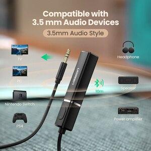 Image 5 - UGREEN nadajnik Bluetooth 5.0 bezprzewodowy Audio muzyka APTX LL krótki czas oczekiwania 3.5mm Aux Jack cyfrowy optyczny dla Adapter słuchawek