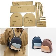 Handmade Leather Ladies Shoulder Bag Casual Backpack  Sewing Pattern Hard Kraft Paper Mold Template 21cm*24cm*10cm