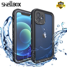 Shellbox Waterproof Case for iPhone 12 11 Pro Max Swimming Shockproof Cases for iPhone 12 Mini Shockproof Silicone Case Cover