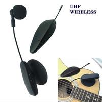 Ituf UHF System Portable Wireless CondenserMic Musical Instrument Gooseneck Microphone for Guitar Violin Viola Cello Mandolin