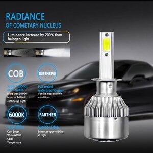 Image 5 - PANDUK C6 H1 H3 Led Headlight Bulbs H7 LED Car Lights H4 880 H11 HB3 9005 HB4 9006 H13 6000K 72W 12V 8000LM Auto Headlamps