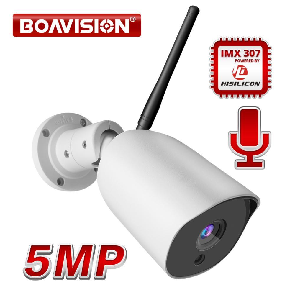 5MP Wireless IP Camera Outdoor Waterproof IP66 1080P WIFI Security Camera ONVIF Two Way Audio IR