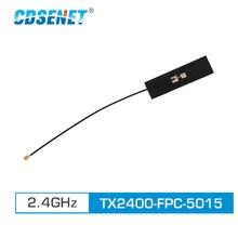 2 pc/lote 2.4ghz antena wifi ipex conector 3.0dbi alto ganho TX2400 FPC 5015 fpc 2.4g antena omnidirecional