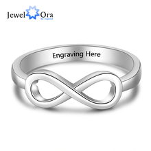 JewelOra Silver Color Infinity Love Knot Rings for Women Customized Personalized Engrave Name Promise Ring Anniversary Gifts