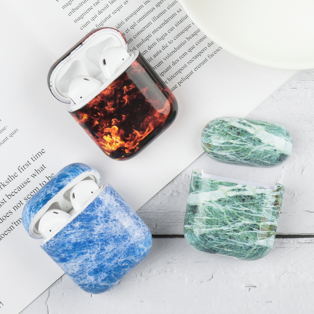 For Airpods Case Marble Pattern Earphone Case For Apple Airpods 2 1 Cover For Airpods For Airpords Air Pods Soft TPU Luxury Case