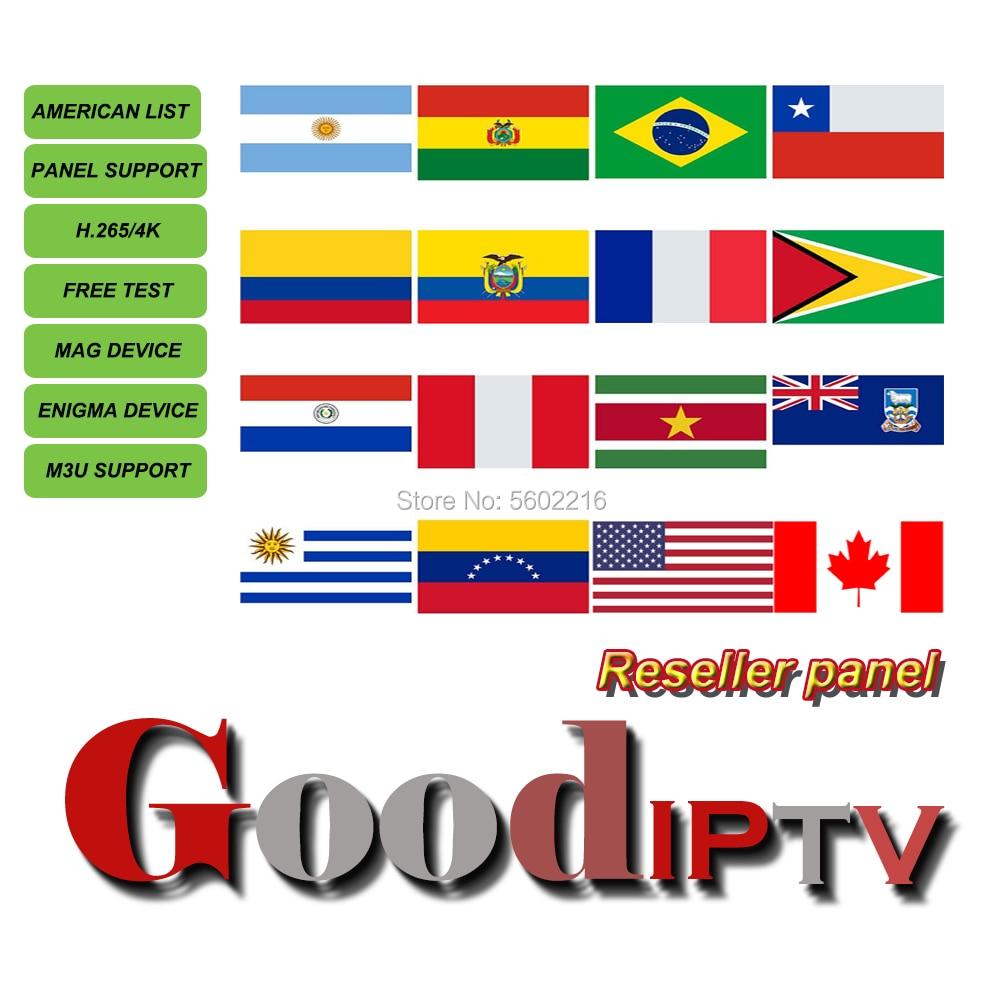 Good IPTV Wholesaler Reseller Brazil m3u Panel abonnement IPTV USA Canada Latin Portugal Android Smart TV Box Enigma2 VLC