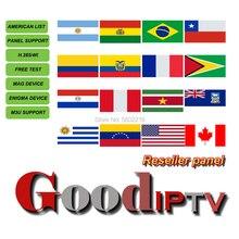 ดีIPTVผู้ค้าส่งResellerบราซิลM3uแผงAbonnement IPTV USAแคนาดาละตินโปรตุเกสAndroidกล่องสมาร์ททีวีEnigma2 VLC