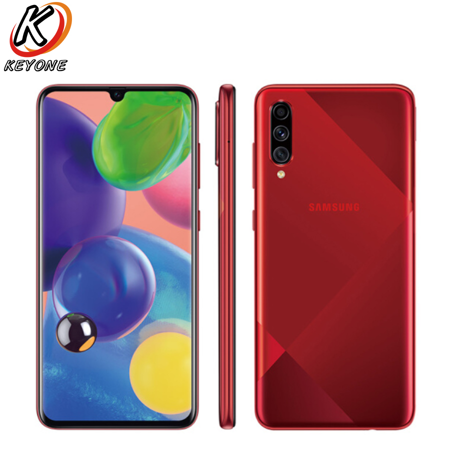 """New Samsung Galaxy A70s A7070 4G 6.7"""" 8GB RAM 128GB ROM Mobile Phone  Snapdragon 675 Octa core Triple Camera Android 9 NFC Phone Cellphones     - title="""