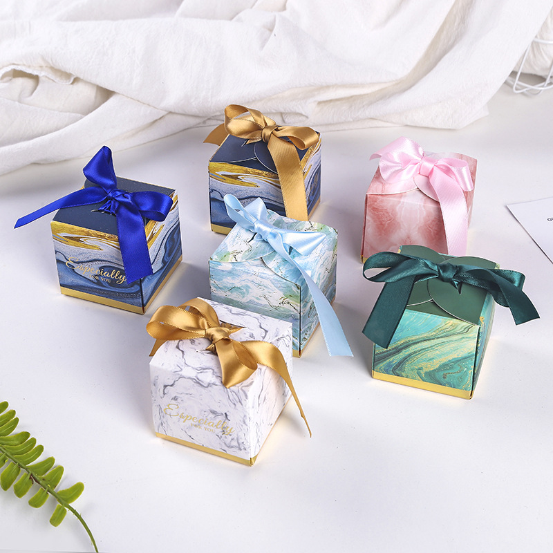 Theme Wedding Favors Candy Box Baby Souvenirs Gift Box With Ribbon Chocolate Paper Box Beautiful Gift Box For Wedding Seven Mode