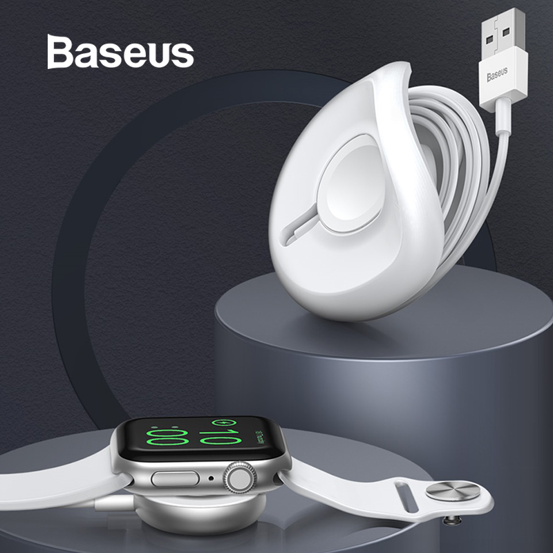 Baseus yo-yo Wireless Charger for Apple Watch Charger Wireless Charging Pad With 1 M USB Cable for Apple Watch Series 4 3 2