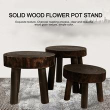 Wood Stool Furniture Makeup Indoor-Plant-Stand Living-Room Small Modern Square Dining