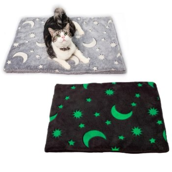 Pet Mat Flannel Dog Bed Winter Thicken Warm Cat House Dog Blanket Puppy Glow Sleeping Cover For Small Medium Large Dog image