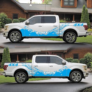 Image 4 - For D MAX Navara Car Sticker 2PCS 4x4 Off Road Graphic Vinyl Decals & Stickers Pickup Truck Decal Styling Accessories for Dodge