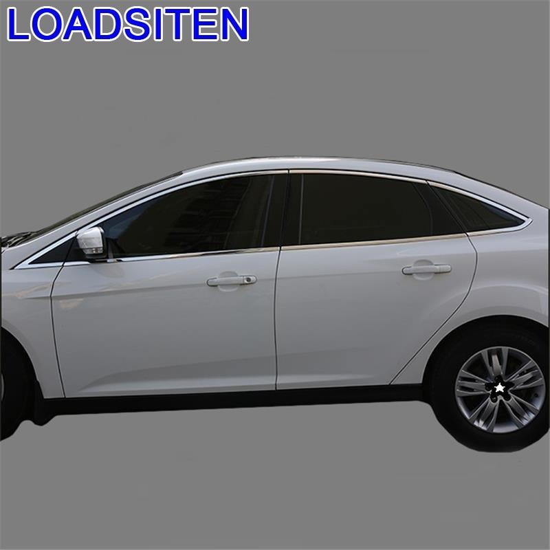 Carro modificado decorativo cromo janela maçaneta da porta exterior adesivo tira peças decoração 12 13 14 15 16 17 18 para ford focus