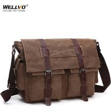 Rétro hommes sacs de messager toile sacs à main loisirs travail voyage sac homme affaires sacs à bandoulière porte documents pour homme Bolsas XA108ZC