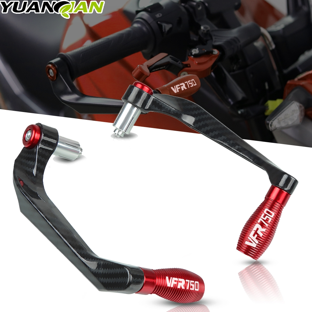Motorcycle Universal Handlebar Grips Brake Clutch Levers Guard Protector For Honda VFR750 <font><b>VFR</b></font> <font><b>750</b></font> 1991 1992 1993 1994 1995 1996 image