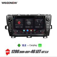 DSP IPS 9Android 10.0 8 rdzeń 4GB 128GB samochodowy odtwarzacz DVD odtwarzacz GPS mapa WIFI BT 5.0 Radio dla Toyota PRIUS 2009 2013 lewego prawego jazdy