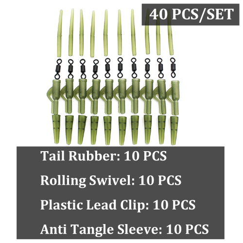 Tail Rubber Translucent Brown x10 For Saftey Lead Clips Carp Fishing Rig Sleeves