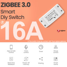 Tuya Zigbee 3.0 16A DIY Smart Wireless Remote Switch Breaker Fan Light Controller Module Smart Life Alexa Google Home Assistant
