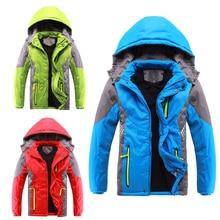 Новое зимнее плотное теплое Детское пальто Детская одежда двухслойные ветрозащитные куртки для мальчиков и девочек детская верхняя одежда для детей от 3 до 14 лет