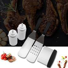 5Pcs Stainless Steel Barbecue Spatula Scraper Squeezing Sauce Bottles BBQ Tools(China)