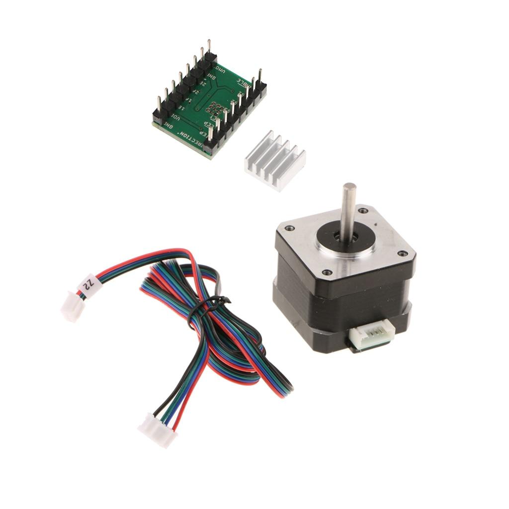 Stepper Motor Nema 17 40mm 1.8A +Stepper Motor Driver A4988 For 3D Printer