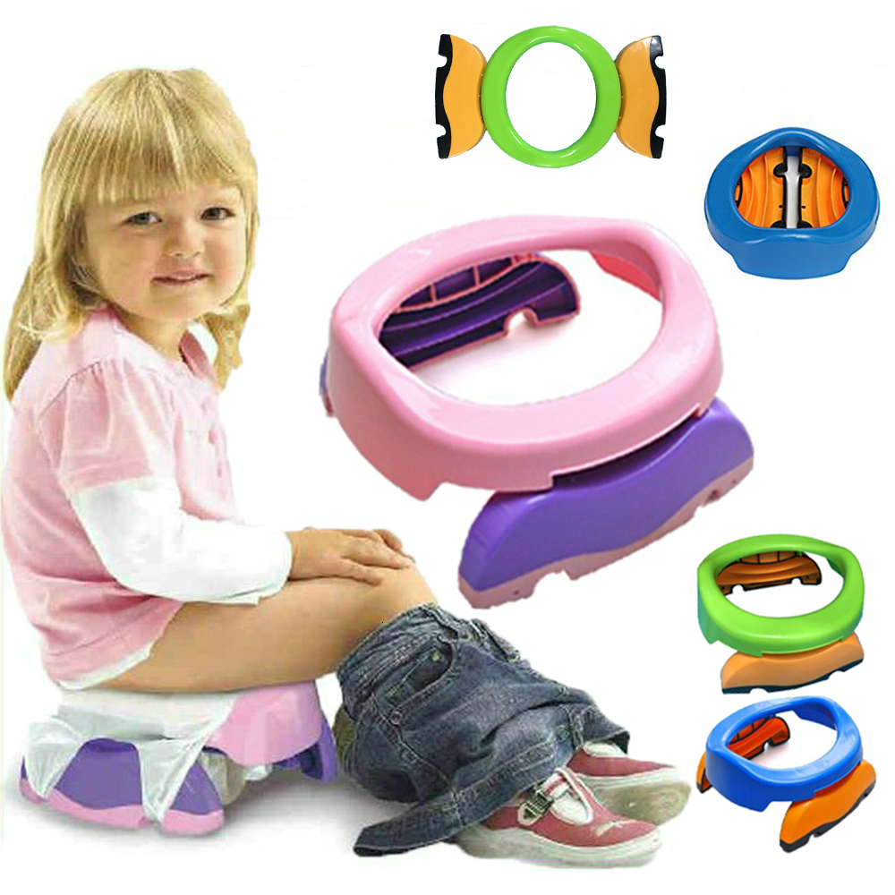 Baby Travel Potty Seat 2 In 1 Portable Foldaway Toilet Seat Children Comfortable Assistant Multifunctional Environmentally Stool
