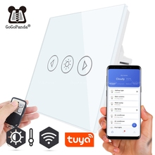 EU Standard Light Dimmer Remote Wifi App Control Touch Switch Smart Automation Switch 220V Tuya Phone On/off Lighter Darker