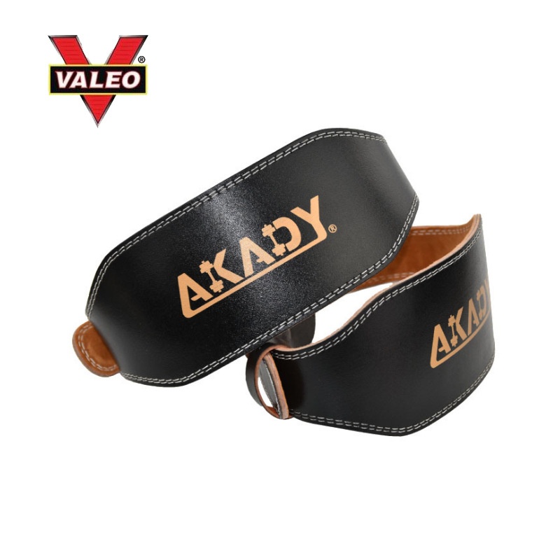 VALEO Power Weightlifting Belt Sport Ware Sports Supplies Fitness Belt Cowhide Corset Squat