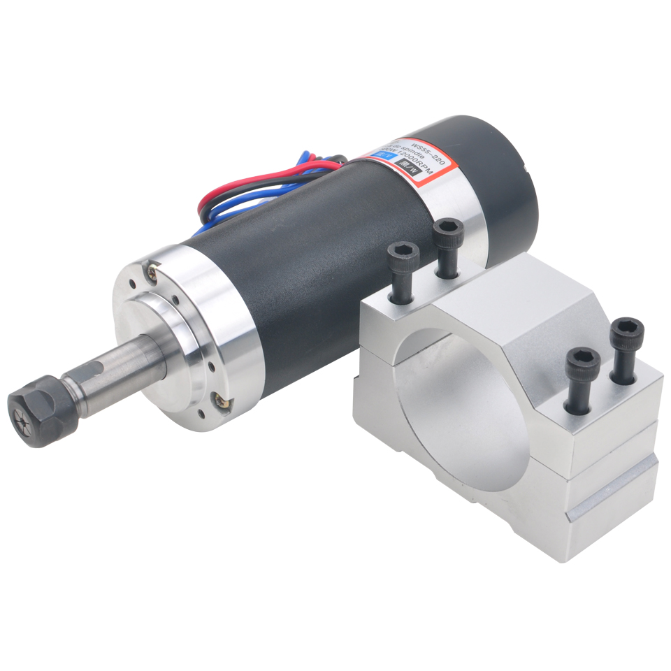Image 2 - 500W Brushless Spindle Motor Air Cooled Spindle ER11 55MM Bracket DC 48V Machine Tool Router For CNC Milling Engraver Machine-in Machine Tool Spindle from Tools