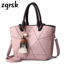 Female Womens Single Shoulder Bags Fringed Ladies Totes Casual Big Handbag Patchwork Tassel Crossbody Elegan Bolsa