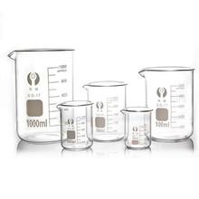 Емкость 5 мл-100 мл низкая форма стакан измерительное стекло химическое лабораторное боросиликатное стекло прозрачный стакан
