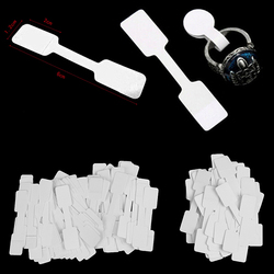 50/100pcs White Price Label Tags with Hanging String for Jewelry / Stationery / Shoes / Clothing Wholesale